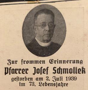 Pfarrer Josef Schmollek